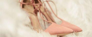 Pink shoes for brides eternal romantic