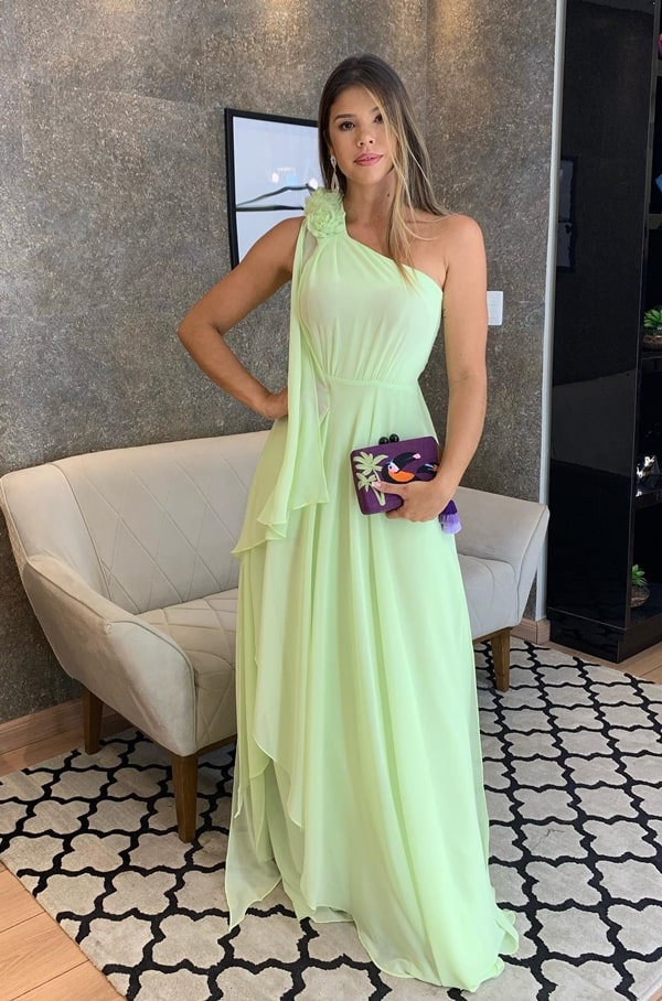 neon party dress for daytime wedding guest