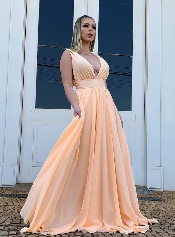 long wedding dress during the day