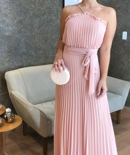 1605501332 Daytime wedding dress long models for bridesmaids and guests