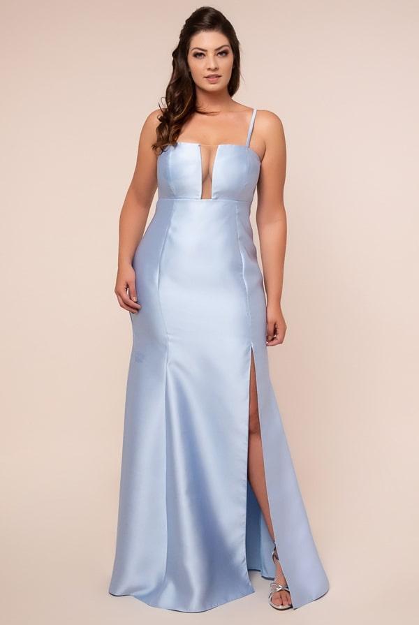 long plus size party dress blue serenity