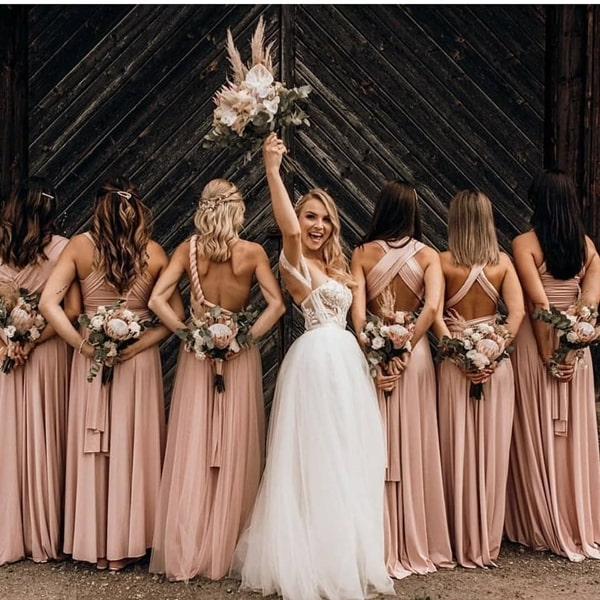 multiforma mooring party dress: photo idea for bridesmaids