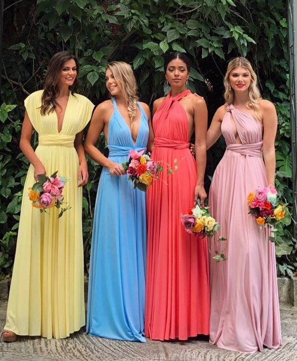 long party dress mooring multiforma palette candy colors for bridesmaid