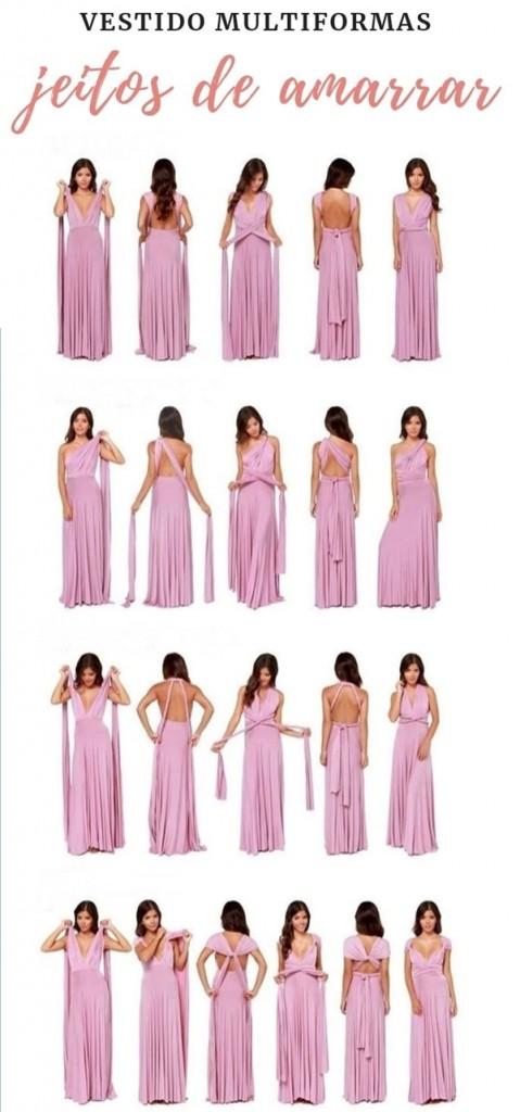 Multiform dress or mooring: ways to tie