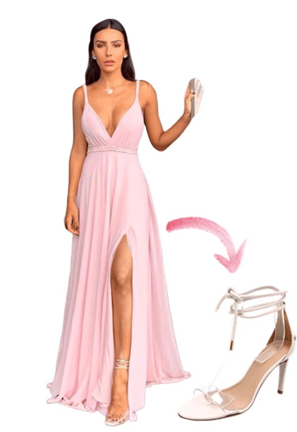transparent party sandal to tie transparent strip