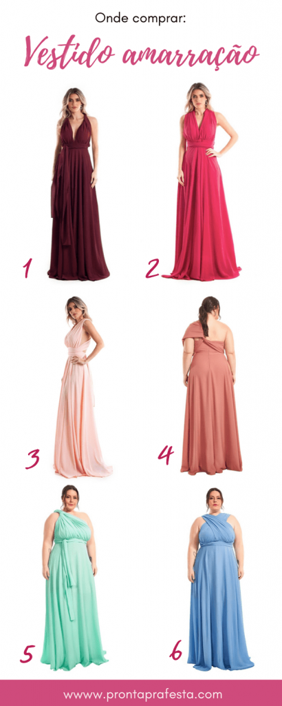 where to buy multi-form tie dress for bridesmaid