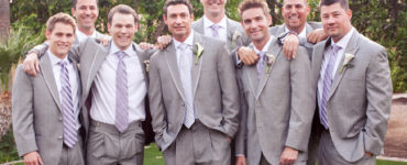 Is a grey suit OK for a wedding?