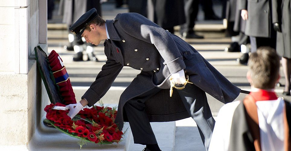 Who lays a wreath at the Cenotaph?