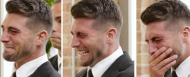 Why do grooms cry when they see the bride?