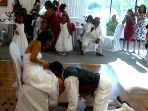 Why does the groom take the garter off with his teeth?